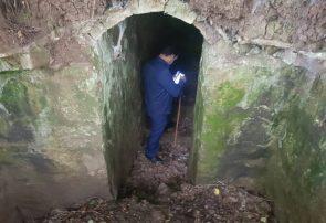 کشف بقایای تونل تاریخی دست کَند در گیلان
